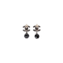 Authentic Second Hand Chanel 'CC' Logo Dangle Earrings (PSS-613-00010) - Thumbnail 1