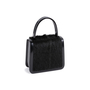 Authentic Second Hand Céline Resin Handle Fur and Patent Handbag (PSS-613-00011) - Thumbnail 1