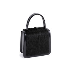 Celine resin handle fur and patent handbag 2?1550164070