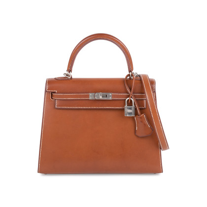 Authentic Pre Owned Hermès Fauve Barenia Sellier Kelly 25 (PSS-613-00006)