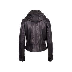 Y 3 hooded leather biker jacket black 2?1550471340