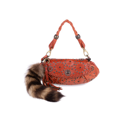 Authentic Second Hand Barbara Bui Raccoon Fur Tail Shoulder Bag (PSS-111-00014)