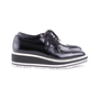 Authentic Second Hand Prada Leather Platform Brogues (PSS-607-00001) - Thumbnail 4