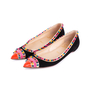 Authentic Pre Owned Christian Louboutin Malabar Spike Flats (PSS-607-00003) - Thumbnail 3