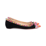 Authentic Pre Owned Christian Louboutin Malabar Spike Flats (PSS-607-00003) - Thumbnail 4