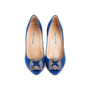 Authentic Second Hand Manolo Blahnik Blue Hangisi Pumps (PSS-607-00009) - Thumbnail 0