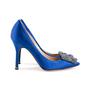 Authentic Second Hand Manolo Blahnik Blue Hangisi Pumps (PSS-607-00009) - Thumbnail 4