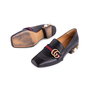 Authentic Second Hand Gucci Peyton Pearl-Embellished Heel Loafers (PSS-607-00012) - Thumbnail 1