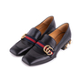 Authentic Second Hand Gucci Peyton Pearl-Embellished Heel Loafers (PSS-607-00012) - Thumbnail 3
