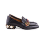 Authentic Second Hand Gucci Peyton Pearl-Embellished Heel Loafers (PSS-607-00012) - Thumbnail 4