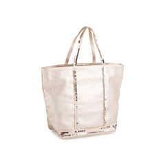 Vanessa bruno small waxed linen and sequins cabas tote bag 2?1550806842