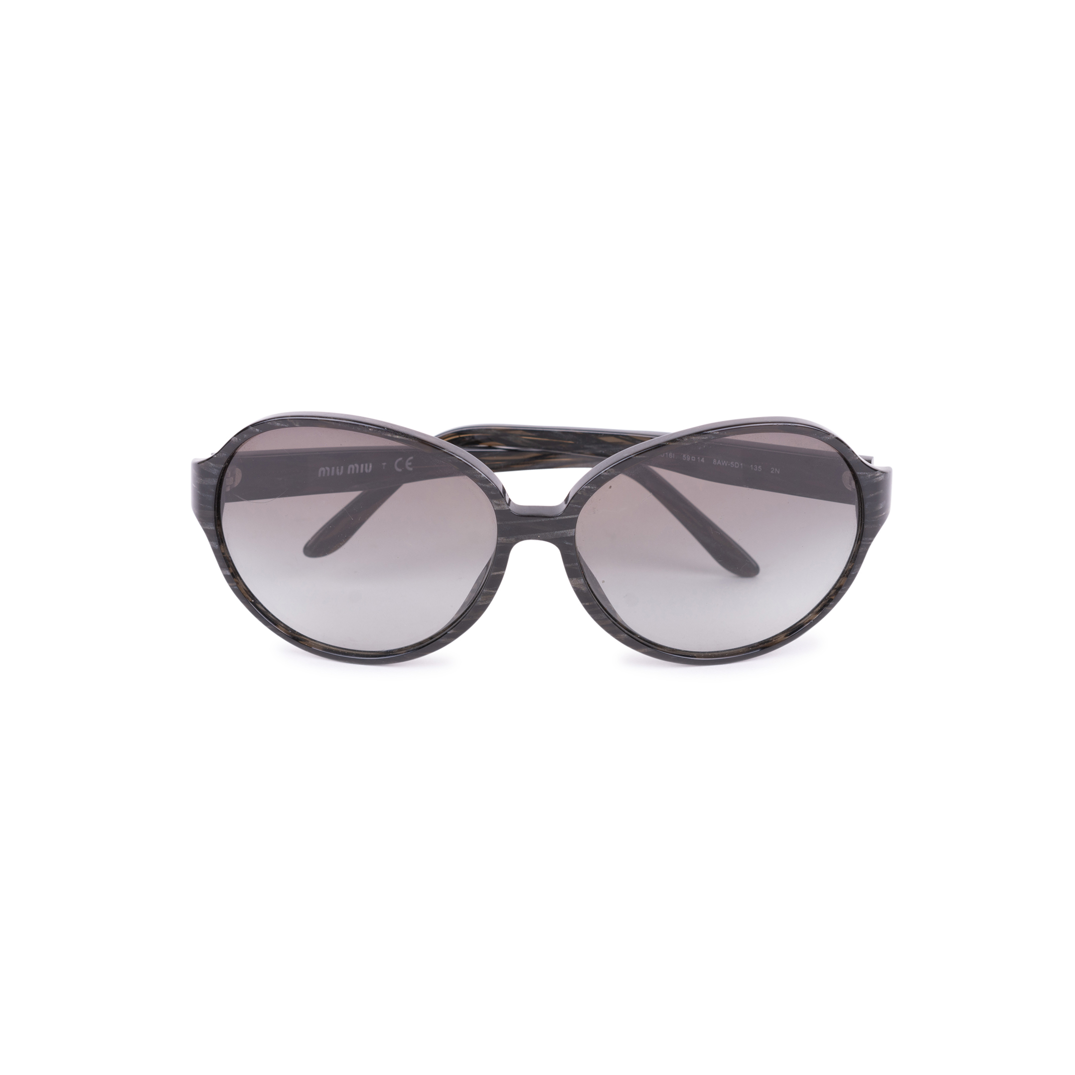 ca9fbed5f205 Authentic Second Hand Miu Miu Oversized Black Gradient Sunglasses  (PSS-004-00091) - THE FIFTH COLLECTION