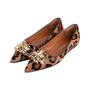 Authentic Second Hand Russell & Bromley Embellished Leopard Print Pointed Pumps (PSS-247-00098) - Thumbnail 3