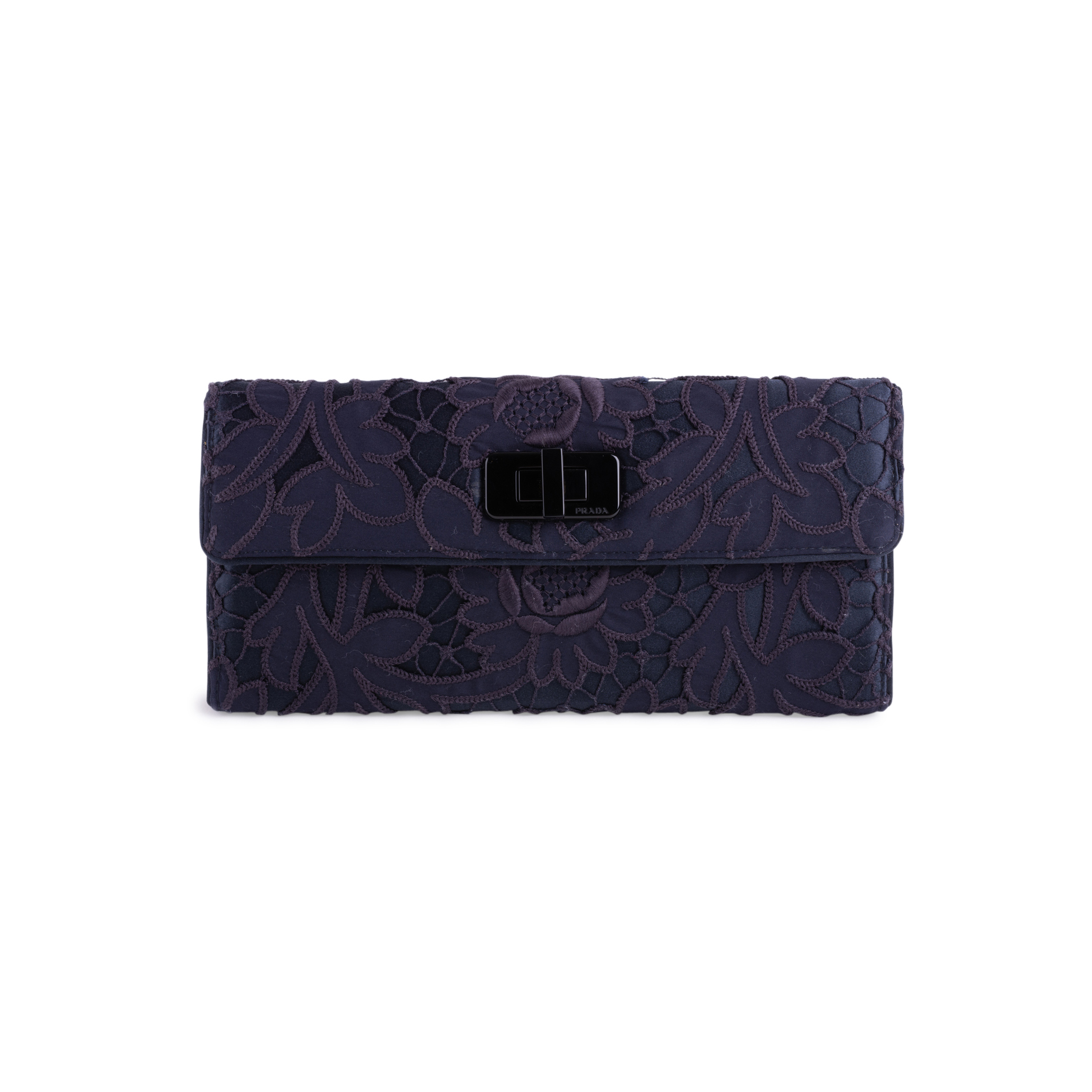 8b65f185d3f4 Authentic Second Hand Prada Floral Lace Clutch (PSS-247-00100) | THE FIFTH  COLLECTION