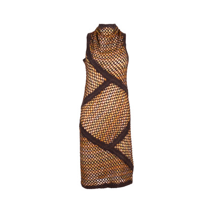 Authentic Second Hand Missoni Wool and Knitted Lace Dress (PSS-247-00104)
