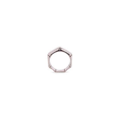 Authentic Second Hand Gucci Silver Bamboo Ring (PSS-612-00002)