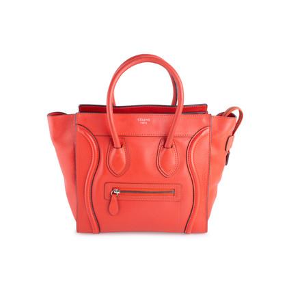 Authentic Second Hand Céline Vermillion Micro Luggage Bag (PSS-619-00002)