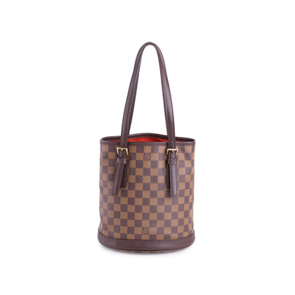 Authentic Vintage Louis Vuitton Marais Damier Ebene Petit Bucket (PSS-636-00005)