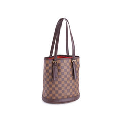 Louis vuitton marais damier ebene petit bucket brown 2?1551164664