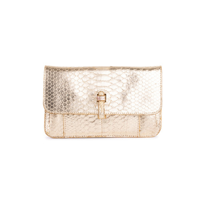 Authentic Second Hand Ling Wu Small Python Clutch Wallet (PSS-636-00019)