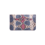 Authentic Second Hand Ling Wu Two Tone Python Clutch (PSS-636-00020) - Thumbnail 2