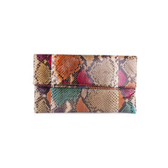 Snakeskin Envelope Clutch