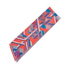 Hermes flowered zigzag straps maxi twilly 2?1551238701