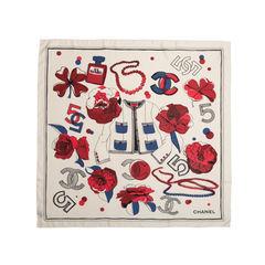 Chanel chanel no5 silk scarf multicolour 4?1551247111
