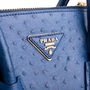 Authentic Second Hand Prada Ostrich Struzzo Double Zip  Satchel (PSS-444-00014) - Thumbnail 4