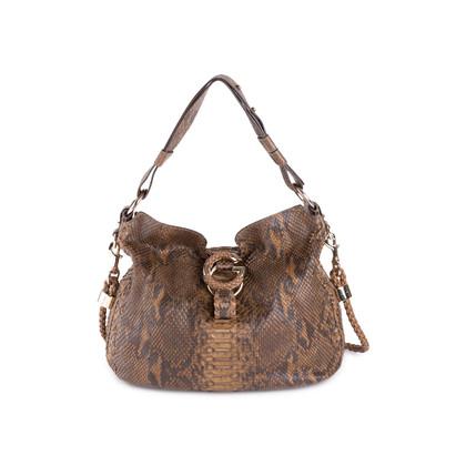 Authentic Second Hand Gucci Python Shoulder Bag (PSS-444-00015)
