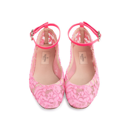Authentic Second Hand Valentino Lace Ballet Flats (PSS-623-00015)