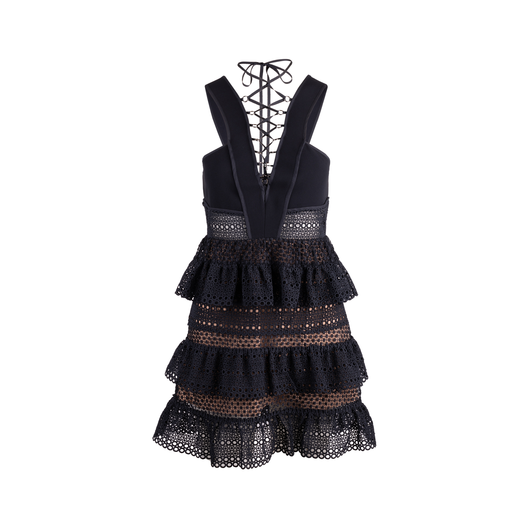d702f64720bb2 Authentic Second Hand Self-Portrait Lace-Up Tiered Dress (PSS-148-00059) |  THE FIFTH COLLECTION