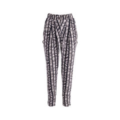 Printed Brushed-silk Tapered Pants