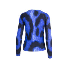 Blumarine printed long sleeved cardigan blue 2?1551336058