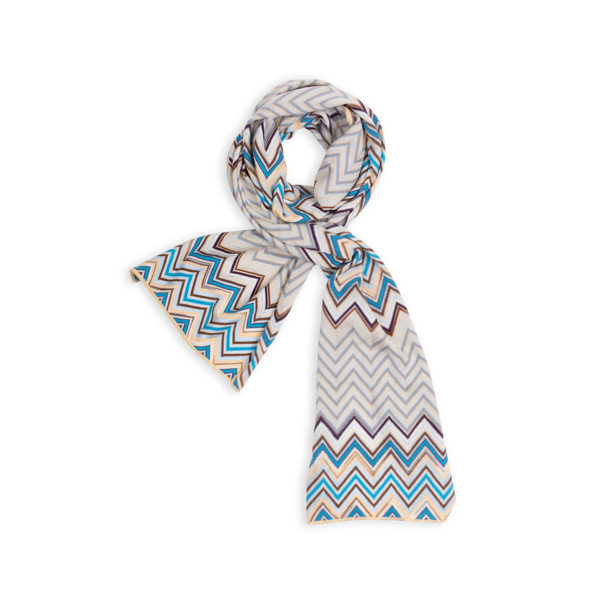 0e6253c522b9b Authentic Second Hand Missoni Sport Knitted Zig Zag Scarf (PSS-004-00100) -  THE FIFTH COLLECTION
