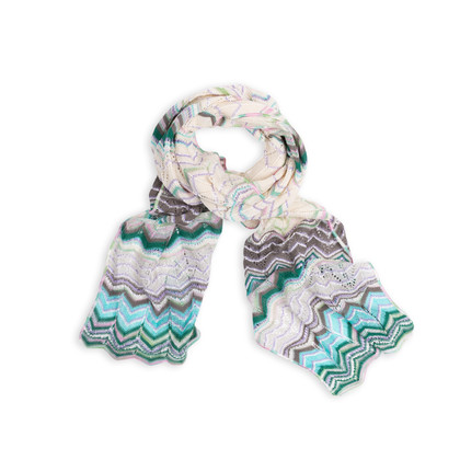 Authentic Second Hand Missoni Crochet Knit Scarf (PSS-004-00101)
