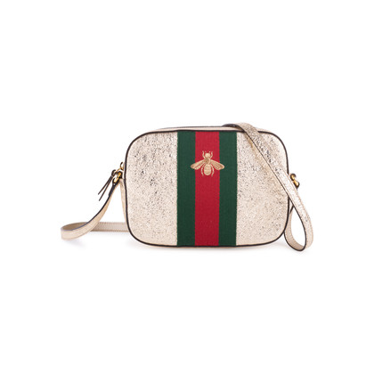 Authentic Second Hand Gucci Webby Bee Embroidered Bag (PSS-351-00021)