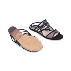 Christian dior mesh and suede sandals 2?1551685264