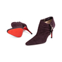 Authentic Second Hand Christian Louboutin Suede Ankle Boots (PSS-618-00001) - Thumbnail 1