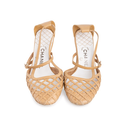 Authentic Second Hand Chanel Lattice Leather Pumps (PSS-618-00003)