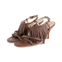 Authentic Second Hand Prada Fringe Leather Sandals (PSS-618-00004) - Thumbnail 3