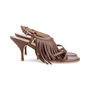 Authentic Second Hand Prada Fringe Leather Sandals (PSS-618-00004) - Thumbnail 4