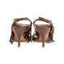Authentic Second Hand Prada Fringe Leather Sandals (PSS-618-00004) - Thumbnail 5
