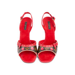 Lizard Cherry  Slingback Sandals