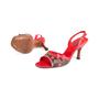 Authentic Second Hand Louis Vuitton Lizard Cherry  Slingback Sandals (PSS-618-00012) - Thumbnail 1