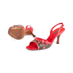 Louis vuitton lizard cherry slingback sandals 2?1551759253
