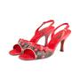 Authentic Second Hand Louis Vuitton Lizard Cherry  Slingback Sandals (PSS-618-00012) - Thumbnail 3
