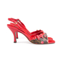 Authentic Second Hand Louis Vuitton Lizard Cherry  Slingback Sandals (PSS-618-00012) - Thumbnail 4