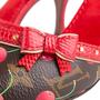Authentic Second Hand Louis Vuitton Lizard Cherry  Slingback Sandals (PSS-618-00012) - Thumbnail 6