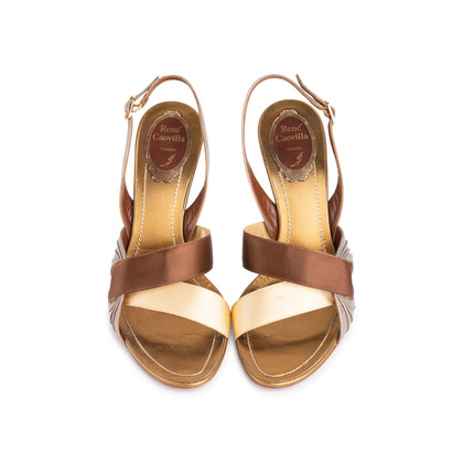 Authentic Second Hand René Caovilla Satin Slingback Sandals (PSS-618-00014)